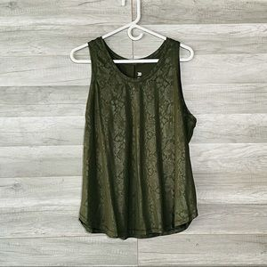 All In Motion Tank Top Green Camo Sleeveless